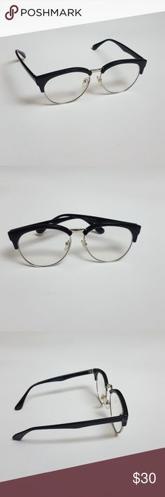 Black Trim Optical Frames Eyewear Glasses Can be worn for fashion or optical Preowned Minor signs of wear Accessories Glasses