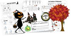 CAHIER d'autonomie HALLOWEEN • ReCreatisse Bonbon Halloween, Cycle 2, Images, Movie Posters, Art, Dots Game, Notebook, Gaming, Index Cards