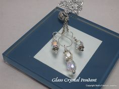 Glass Crystal Pendant by BobsFashionJewelry on Etsy