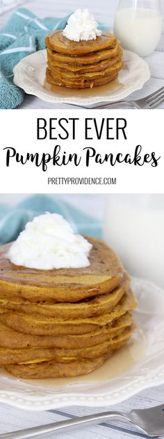 The best ever pumpkin pancakes! We love this recipe and make it at least once a week in the fall! If you love pancakes you'll love these pumpkin pancakes! Pumpkin Pancakes, Pumpkin Dessert, Pumpkin Recipes, Fall Recipes, Yummy Recipes, Vegetarian Recipes, Healthy Recipes, Muffins, Benefits Of Organic Food