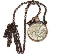 Cuba map necklace map necklace asia map necklace gumiabroncs Gallery
