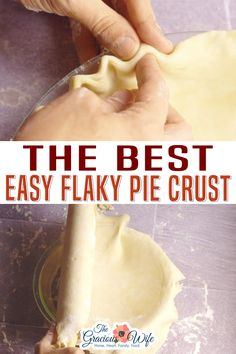 Buttery, easy, flaky pie crust that will turn out perfect every time. Easy to make with just 5 basic ingredients! This flaky pie crust is ridiculously easy to make, with just 5 ingredients, and it turns out beautiful and delicious every time. Everyone needs a go-to, no-fail pie crust recipe, so I wanted to share mine with you! | The Gracious Wife @thegraciouswife #flakypiecrustrecipe #thebestpiecrust #easyflakypiecrust #holidaypiecrust #holidaypierecipes #thegraciouswife
