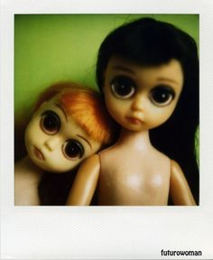 Polaroid Print 5x7  Susie Sad Eyes Dolls  Fine Art by futurowoman