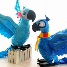 Blu and Jewel Parrot Stuffed Toy