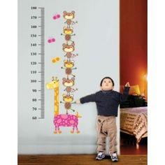 Nálepky na stenu - žirafka a medvedíci meter