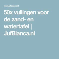 50x vullingen voor de zand- en watertafel | JufBianca.nl