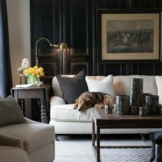 45 Cozy Masculine Design Ideas For Living Room - Blue is one of the most popular favorite colors in the world. However, it often translates as masculine or like a baby boy's nursery when used in home. Living Room Designs, Living Room Decor, Living Spaces, Interior Desing, Interior Decorating, Room Interior, Masculine Living Rooms, Masculine Room, Design Blog