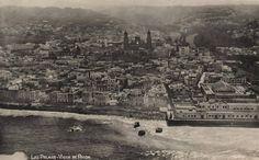 Imagen aérea de la zona de Vegueta y aledaños. Las Palmas de Gran Canaria, 1925