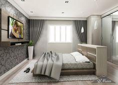 Se o seu quarto é grande, opte por não encostar a cama na parede para deixar o ambiente mais gracioso e harmonioso.