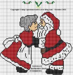 Père Noel et Mère Noel sous le gui