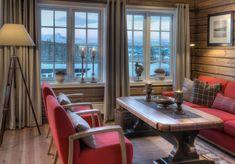 Roger's Hytteside - Den ferdige hytta Winter Lodge, Living Room Interior, Modern Rustic, Decoration, Scandinavian Design, New Homes, Cabin, Outdoor Decor, Furniture