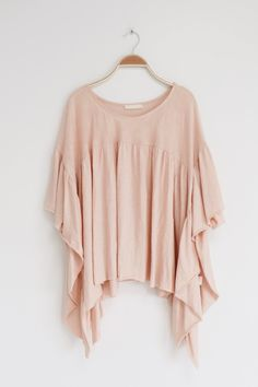 Blush Butterfly Sleeve Blouse | ROOLEE