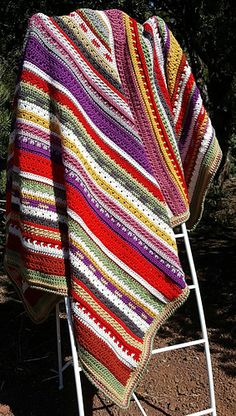 Ravelry: 12 Step Sampler Blanket pattern by We-R-Soto Design