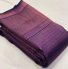 Kerala Saree Blouse Designs, Cotton Saree Designs, Bridal Blouse Designs, Gold Silk Saree, Wedding Silk Saree, Bridal Lehenga, Latest Silk Sarees, Indian Silk Sarees, Light Purple Prom Dress