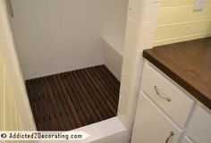 DIY Removable Cedar Shower Mat