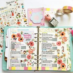 completed week 49: using my old style to decorate this week with goodies from @findingnanashop. and using some floral washi from my stash to decorate the sides. love this layout. is simple and easy to read. . #planner #plannerlove #planneraddict #plannernerd #plannercommunity #filofax #stationery #stamps #craft #week #findingnanashop #washi by rubywmw