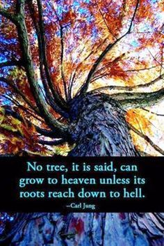 No tree, it is said, can grow to heaven unless its roots reach down to hell. ~Carl Jung, Aion, Page 43.