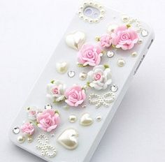 Cute Flower Pearl iphone 5 case