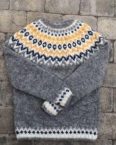 Icelandic Sweaters, Fair Isle Knitting Patterns, Diy Projects To Try, Knitwear, Knit Crochet, Men Sweater, Wool, My Style, Ideas