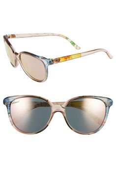 45a56cbc788 Gucci 55mm Floral Print Sunglasses available at  Nordstrom Pretty Outfits