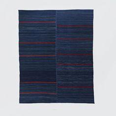 Steven Alan Ferda Wool Rug, 9'x12', Midnight