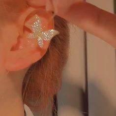 Jewelry Design Earrings, Ear Jewelry, Cuff Earrings, Cute Jewelry, Rhinestone Earrings, Stylish Jewelry, Fashion Jewelry, Women Jewelry, Fashion Eye Glasses