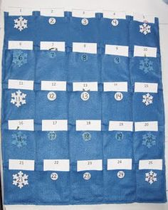 What a great idea- Activity Advent Calendar, a different craft each day