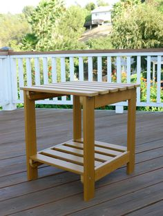 Toffee Synthetic Wood Square Outdoor Side Table Patio Bar, Patio Table, Modern Outdoor Furniture, Outdoor Decor, Outdoor End Tables, Square Side Table, Bar Height Table, Wood Square, Toffee