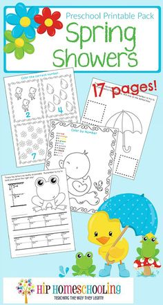 Free spring preschool printable pack for your little ones to enjoy. Pack includes counting, handwriting practice, coloring and many fun filled activities! April Preschool, Preschool Education, Free Preschool, Preschool Themes, Preschool Lessons, Preschool Learning, Spring Preschool Theme, Preschool Curriculum Free, Learning Skills