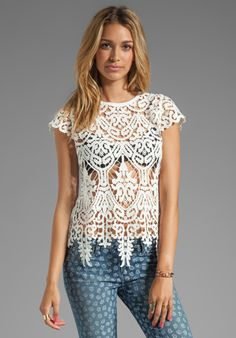 DOLCE VITA Zalie Top in Snow