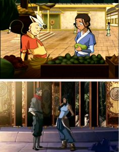 The Avatar's flirting stance; some things never change. Korra is everything that Aang wanted to be as an avatar. She was confident and powerful and knew what she was doing. But Aang is also everything Korra needs to be. Patient and spiritual and humble