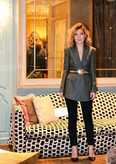 Raquel Strada - Paris Fashion Week - Versace blazer