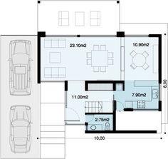 Casa Sebastiana | Proyecto ya ! Casas Country, Deco, Prefab, Minimalist Home, Second Floor, Townhouse, My House, House Plans, Sweet Home