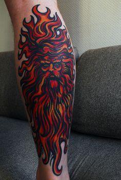 Sun God tattoo, now that's love of the sun