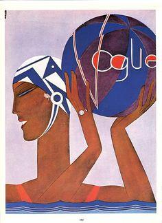 Couverture de Vogue Magazine Fashion par FrenchOldPapers sur Etsy