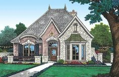French Country House Plans, French Country Bedrooms, French Country Cottage, French Country Style, Lake House Plans, New House Plans, Cottage House Plans, Cottage Homes, Small Luxury Homes