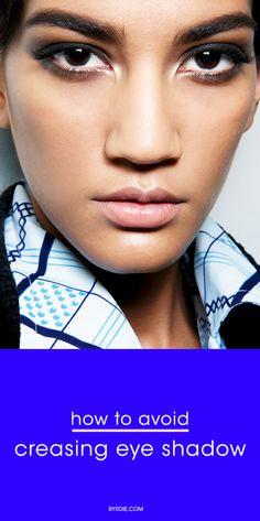 The makeup artist secret for preventing creasing eye shadow
