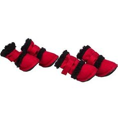 """Pet Life Shearling """"Duggz"""" Dog Boots in Red & Black - Small - http://www.thepuppy.org/pet-life-shearling-duggz-dog-boots-in-red-black-small/"""