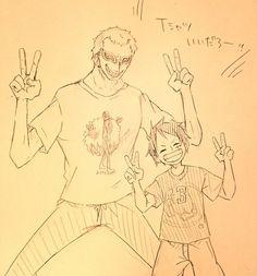 Donquixote Doflamingo and Monkey D. Luffy