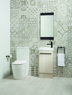 Patterned tiles are a great way to introduce colour into your space. Whether it's the intricate, Moroccan-inspired designs or modern geometric shapes, they certainly make a statement.