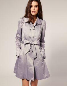 Vero Moda Ruched Shoulder Belted Trench Coat
