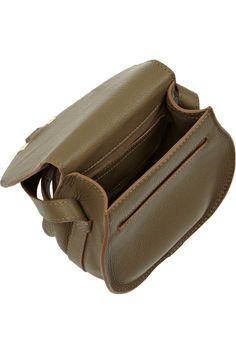 Chloé | The Marcie mini textured-leather shoulder bag | NET-A-PORTER.COM