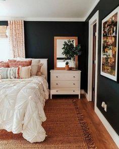 Trendy Bedroom Design For Men Interior Beds Home Decor Bedroom, Bedroom Furniture, Bedroom Ideas, Wood Furniture, Bedroom Curtains, Painting Furniture, Bedroom Colors, Bedroom Apartment, Glam Bedroom