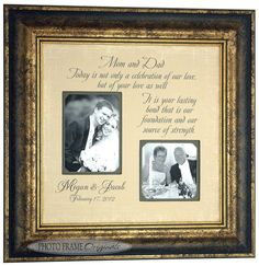 Custom Wedding Frame, Gift Parents, Bride, Groom, Mother, Father ...