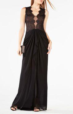 Brandy Lace-Trim Gown