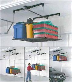 """overhead garage storage """"pallet"""" style"""