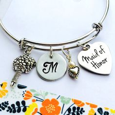 Maid of Honor Bracelet Gift for Maid of Honor by UniquelyImprint
