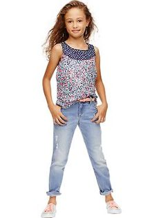Cute top!  Girls Floral Sleeveless Top I Girls Clothes: Featured Outfits Outfits We Love | Old Navy 2/15