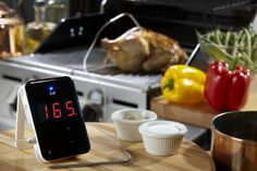 iGrill BBQ Thermometer: For the guy who loves to grill and who enjoys all the cool gadgets, the sleek iGrill thermometer is a perfect gift for Father's Day. It's compatible with his iPhone, iPad, and iPod Touch, plus it's Bluetooth enabled. It'll revolutionize the way he cooks and grills this summer. #Gifts #Him #Cook #JKAdams #Beer #JKAVday4Guys #Valentine's Day #Giveaway