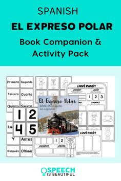 I love this classic holiday book! It's great for literacy-based therapy. This Polar Express Spanish book companion and activity pack is great for working on reading comprehension and vocabulary while expanding the students' knowledge base. Perfect for working with bilingual students. | Speech is Beautiful